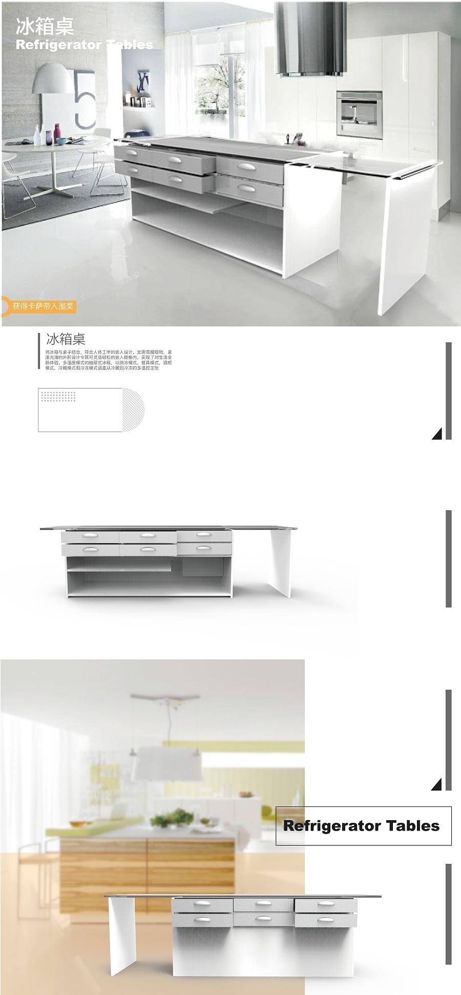 多温度模式的抽屉式冰箱,以微冻模式,餐具模式,酒柜模式,冷藏模式和图片