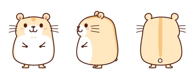 仓鼠q版萌图简笔画