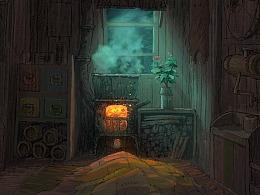 前一幅树屋里面结构印象稿