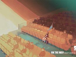 One the Way系列插画 流浪在世界深处