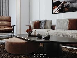 现代轻奢家装空间效果表现
