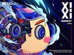 嘻嘻猴-IP延展插畫海報