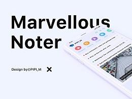 Marvellous noter UI/UX Design