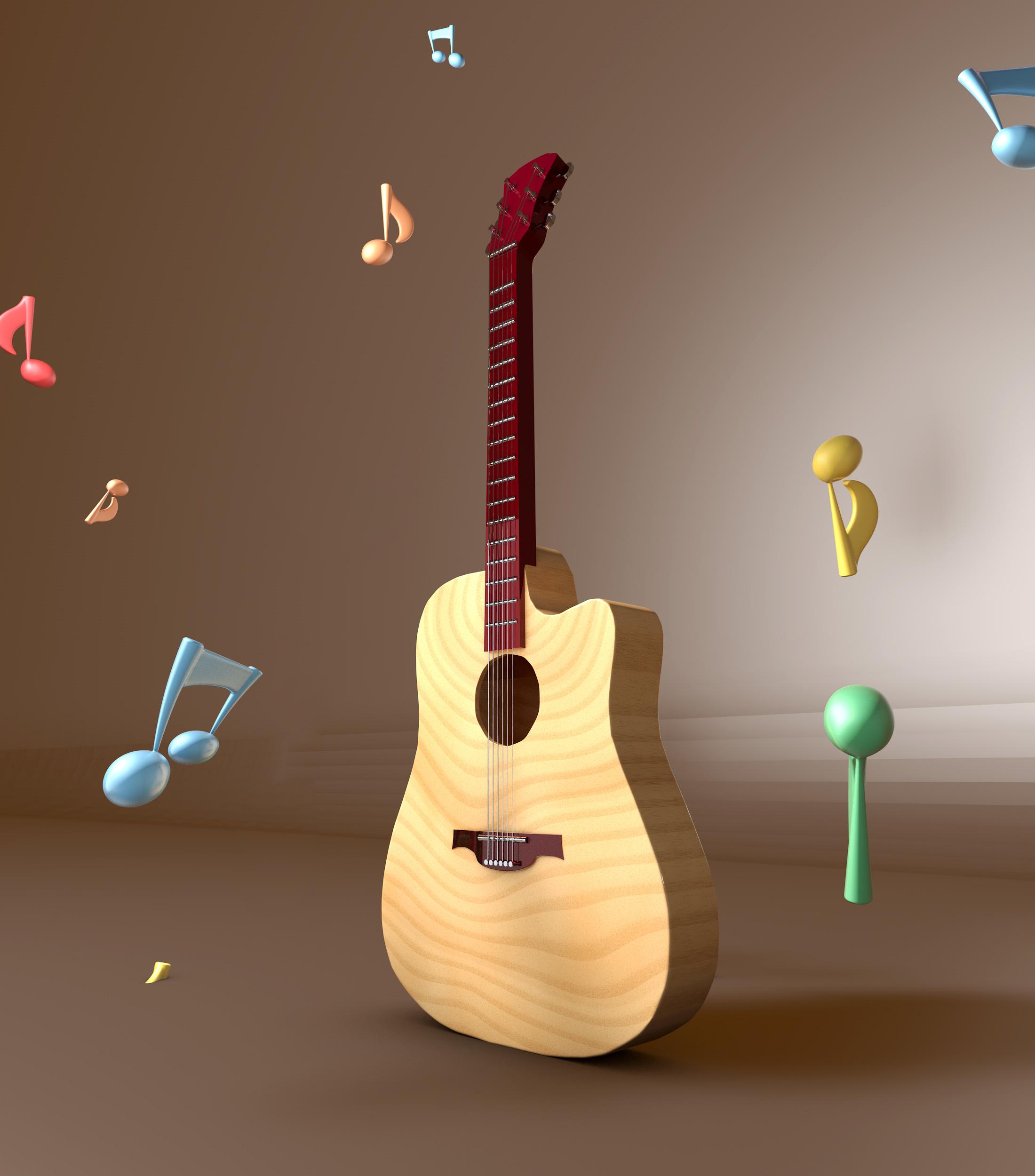 儿童手工制作小乐器 吉他