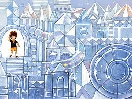原创绘本《魔方大厦》—— 玻璃城