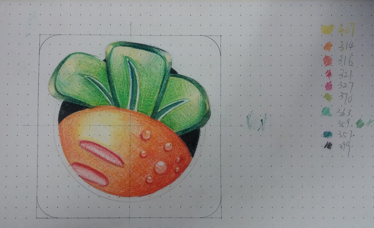 手绘作品|纯艺术|彩铅|龙猫手中的粽子 - 原创作品