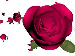 情人节玫瑰背景素材