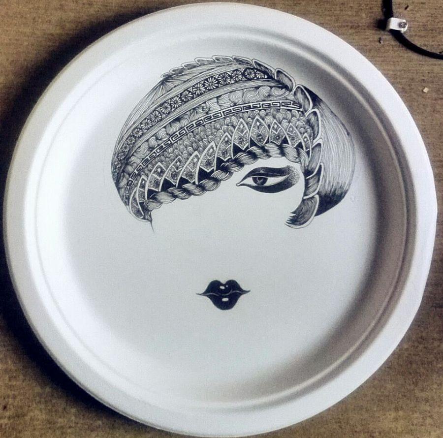中国风 纸盘子
