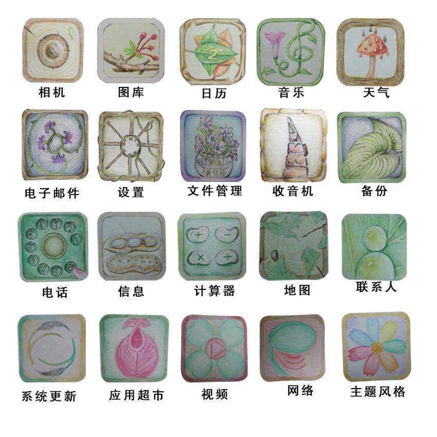手绘植物类图标