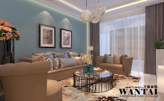 济宁命令豪庭97平米|菜单|室内设计|济宁小郭-原创蓝天绘制地物空间图片
