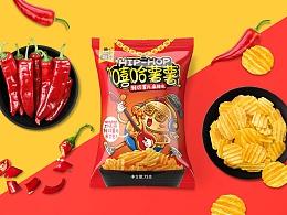 贪吃星球品牌-薯片系列包装设计
