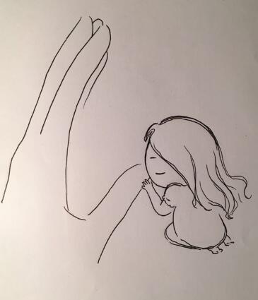 手绘小故事 被温柔安慰的暴走小人|商业插画|插画|lx