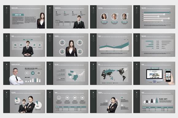 个人简历团队成员介绍工作历程ppt模板图片