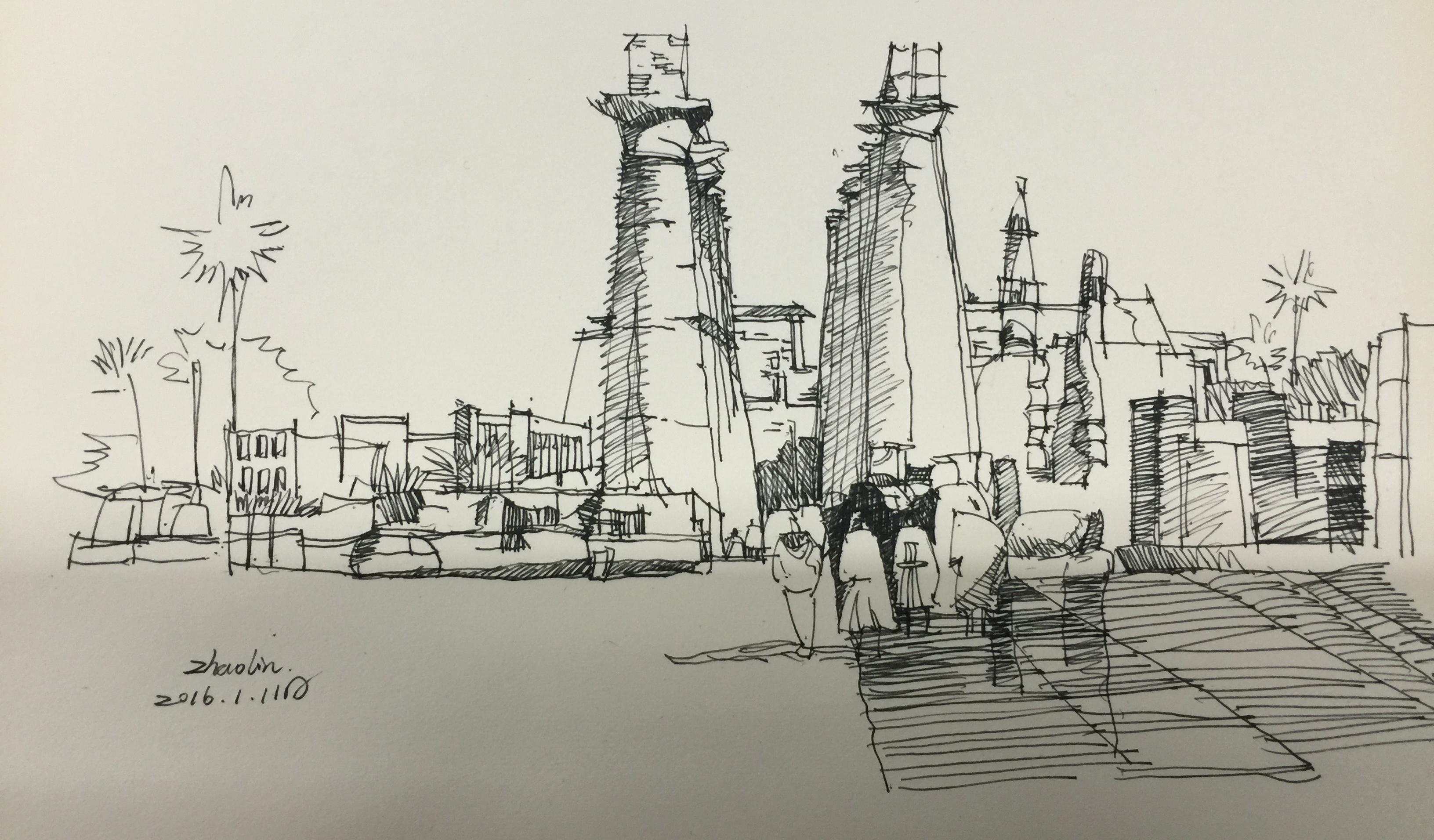 钢笔画临摹03