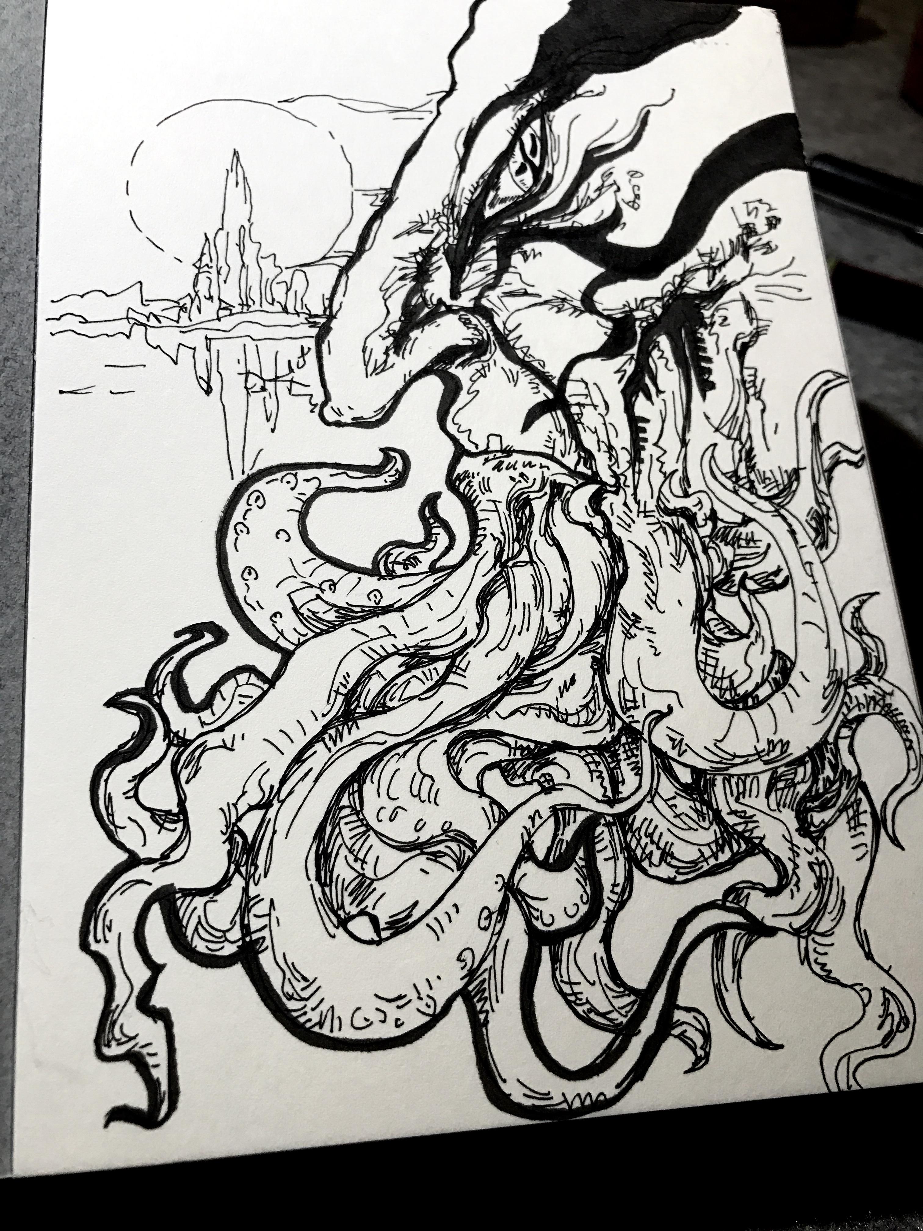 涂鸦大章鱼