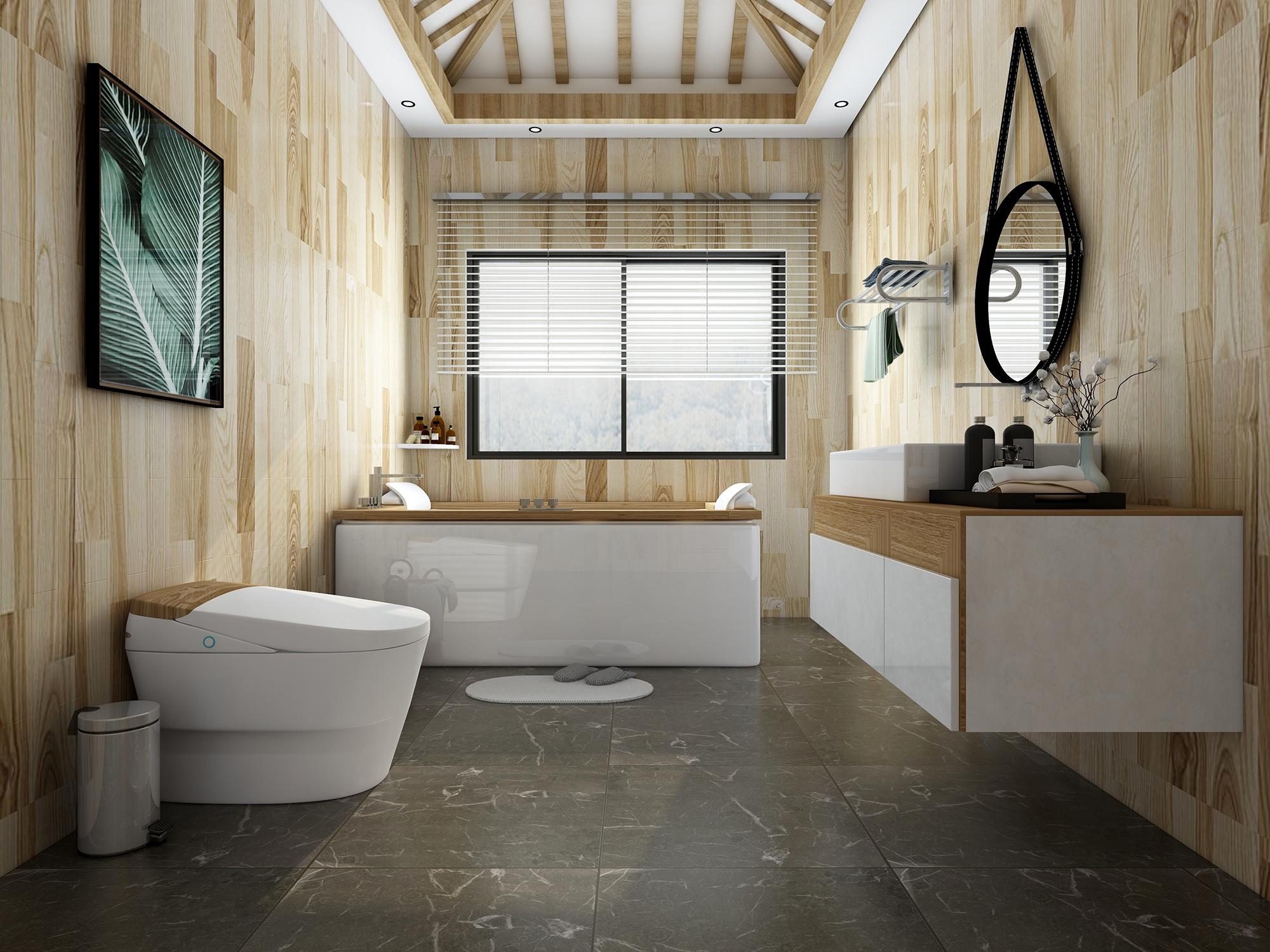 3d室内效果图/浴室瓷砖铺贴