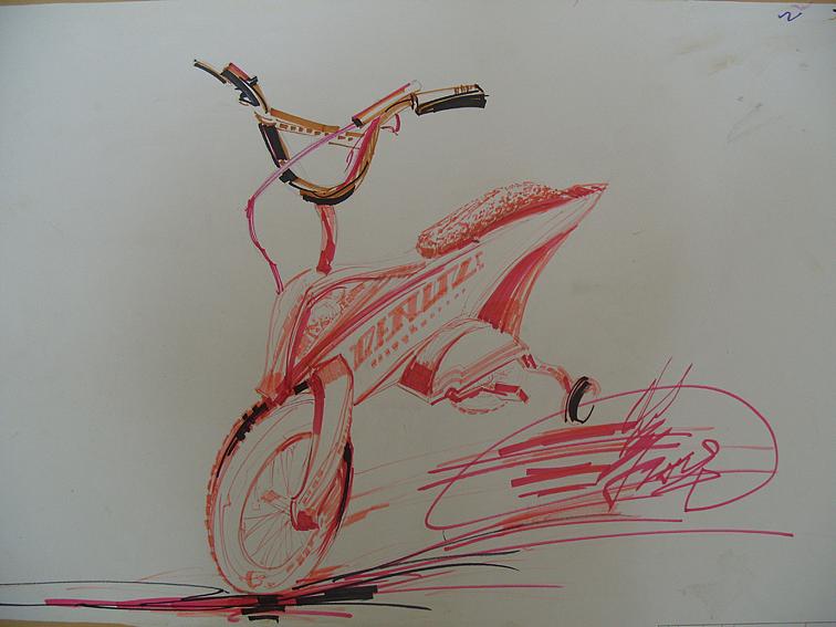 儿童自行车造型手绘效果图1