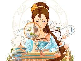 国风城市插画——京城之韵