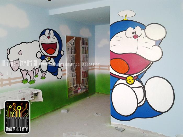 焦作手绘墙,焦作墙绘,哆啦a梦.