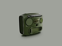 写实小图标-收音机