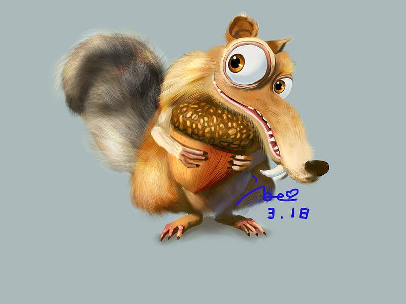 冰川时代 松鼠_冰河世纪的小松鼠|插画|插画习作|花妖君 - 原创作品 - 站酷 (ZCOOL)