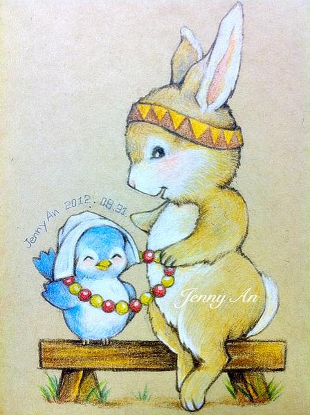 森系手绘动物插画|绘画习作|插画|jennyan