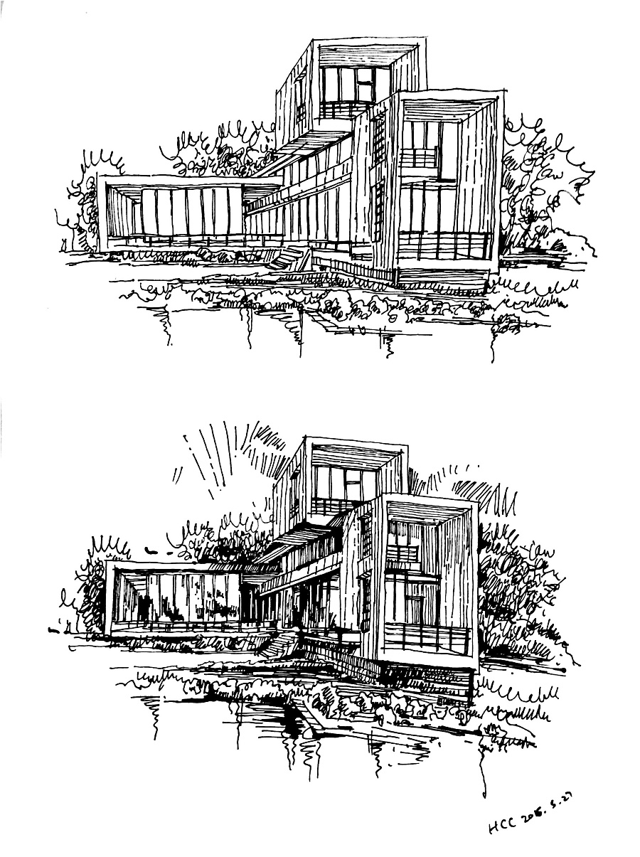 原创作品:一些建筑画 钢笔画
