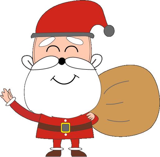 圣诞老人手绘到宣传图