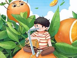 顺丰《脐橙》营销推广系列海报