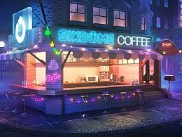夜色中的咖啡馆