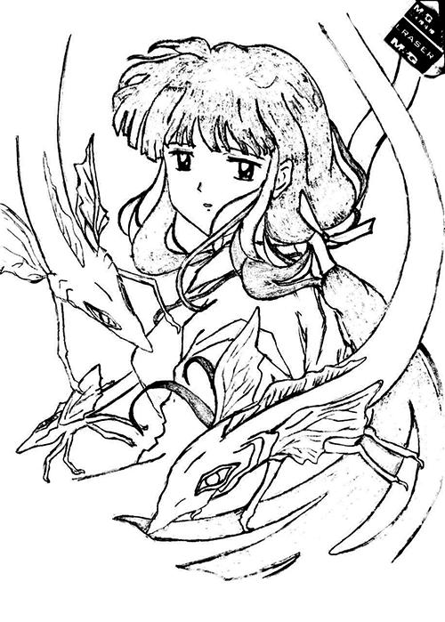 手绘-卡通形象(女)