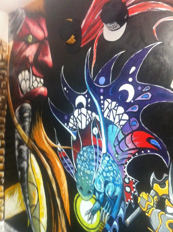 手绘墙|装置艺术|纯艺术|纪元