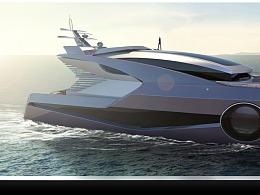游艇建模渲染动画