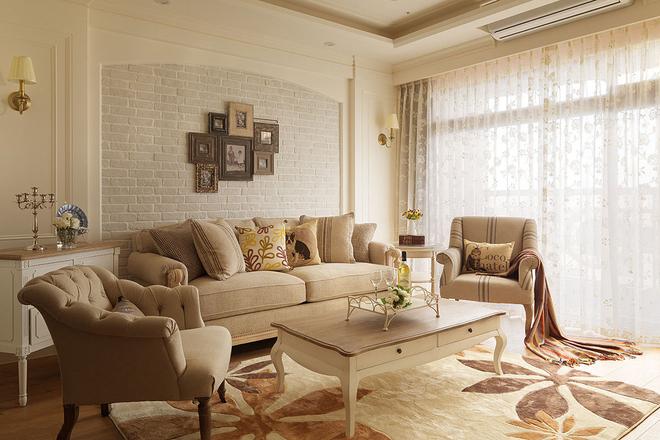 石家庄北城国际90平两室美式装修效果图——搜房网房天下装饰