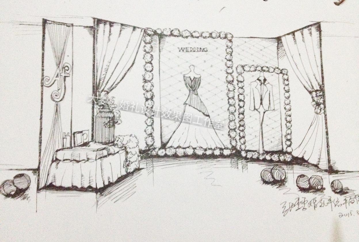 婚礼手绘效果图 初稿
