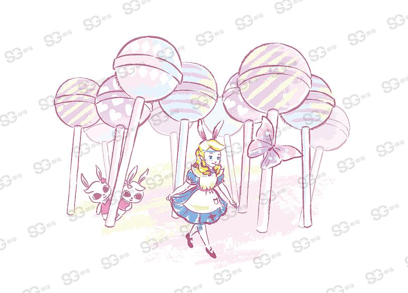 热潮设计 手绘元素 爱丽丝
