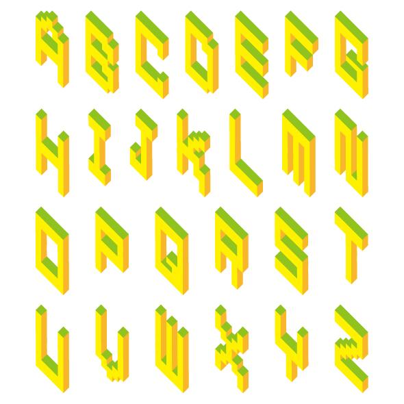 原创作品:字体设计——积木体