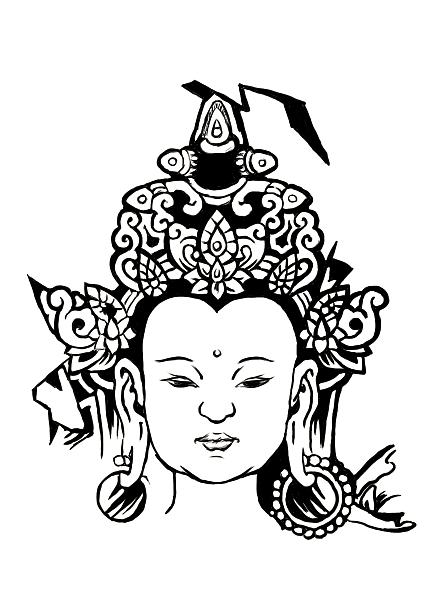 佛 菩萨 普度众生 手绘涂鸦 手绘过程
