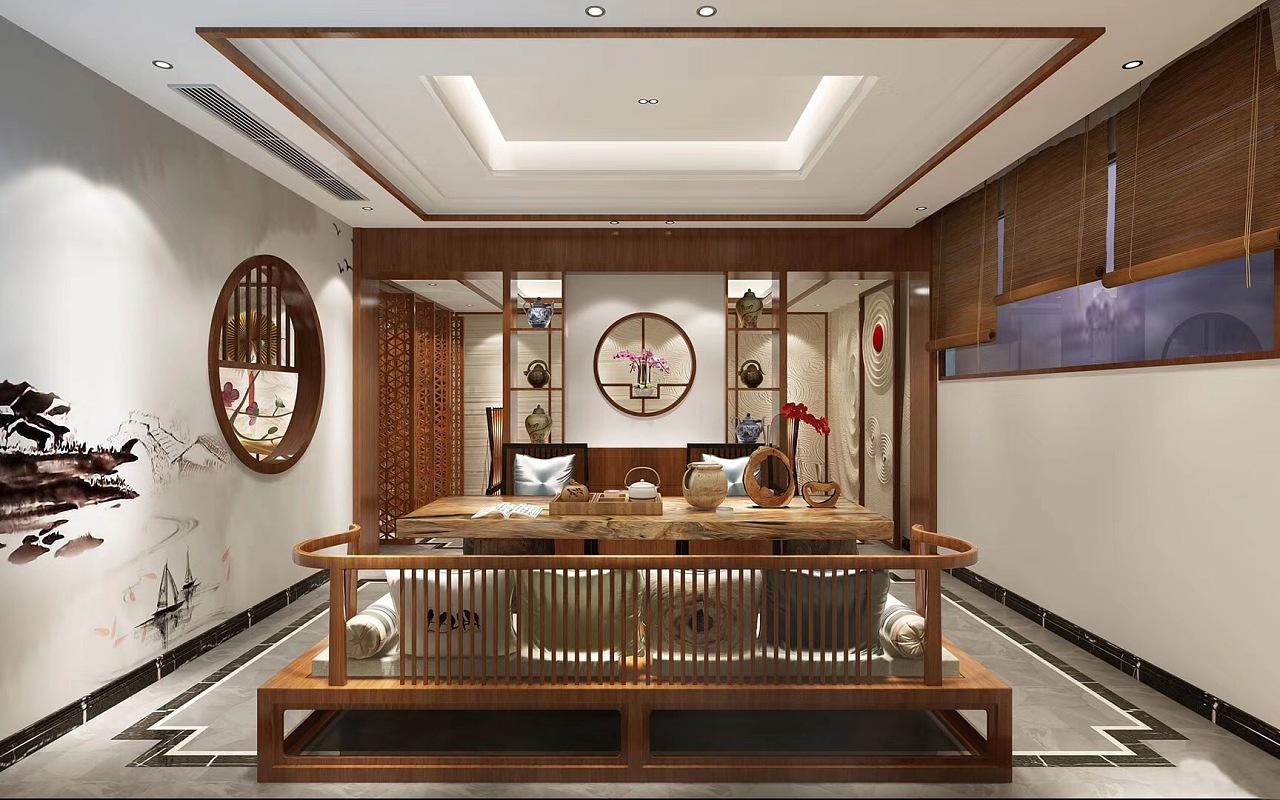 碧桂园600平新中式风格别墅装修效果图欣赏