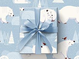 【图案设计-四】礼物礼品包装纸图案设计 T-b-wowlove