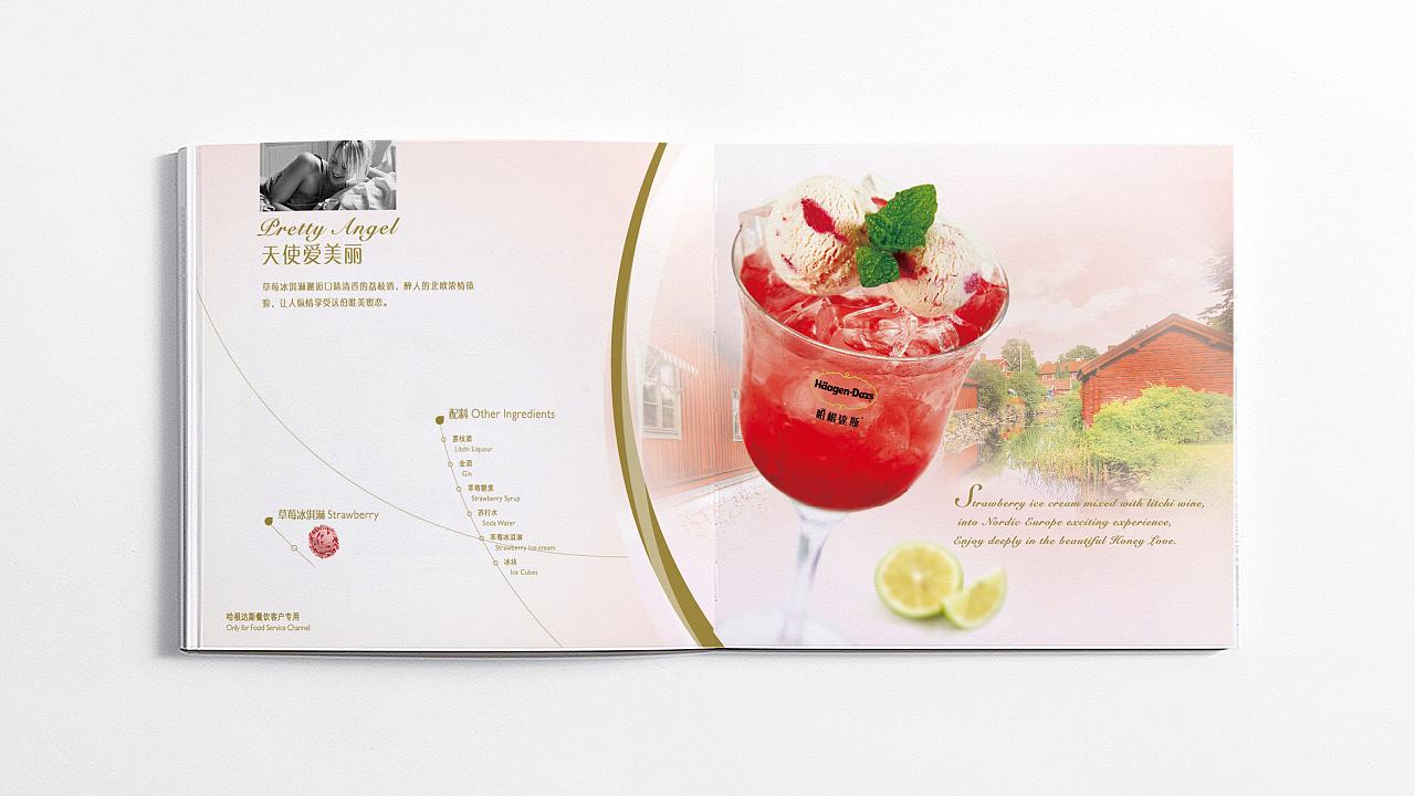 哈根达斯夏季/冬季冰激凌手册菜单设计图片