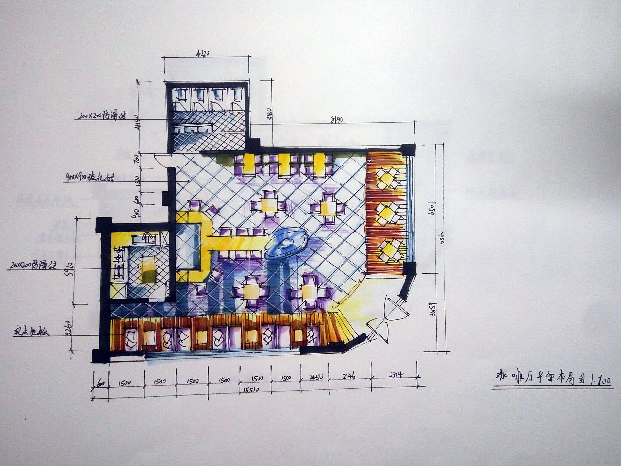 咖啡厅平面图