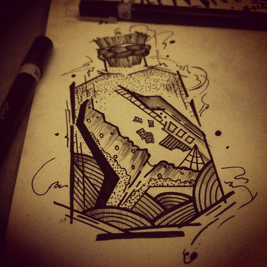 原创手绘 纹身图案设计