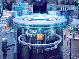 《即刻未来》—小米京东超级品牌日主视觉设计