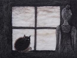 羊毛毡绘本《我与陈野芝的隔窗约定》
