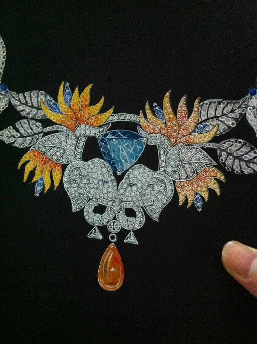 一些珠宝手绘练习