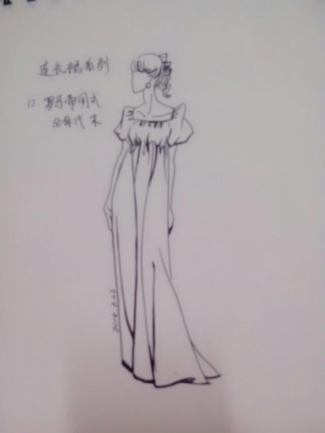 素描铅笔手绘裙子