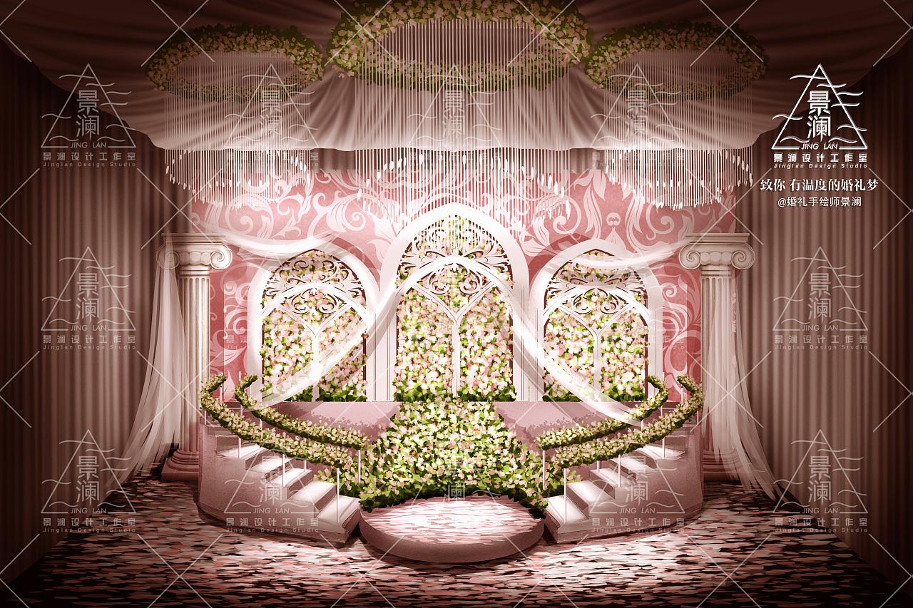 景澜设计 婚礼电脑手绘设计效果图