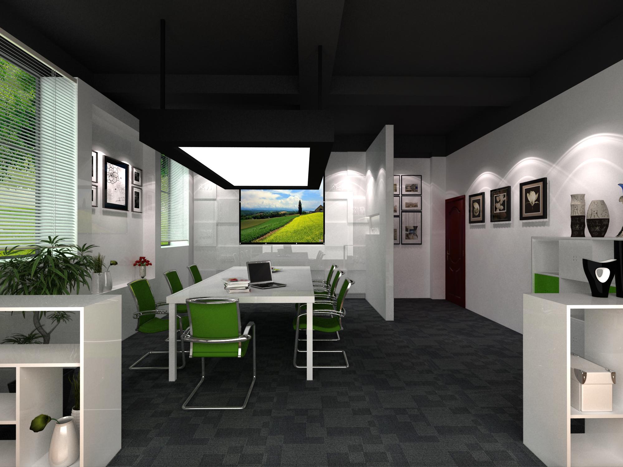 工作室效果图 金陵科技学院|空间|室内设计| - 原创