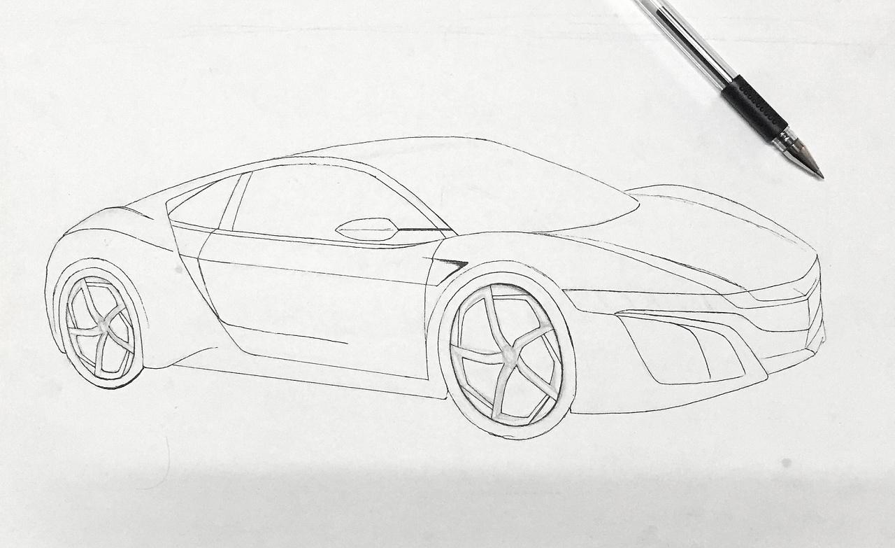 汽车效果图手绘分步图|工业/产品|交通工具|zbin0218